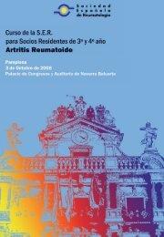 Descargar programa del curso - Sociedad Española de Reumatología