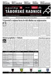 Noviny Táborské Radnice 2009 - Únor