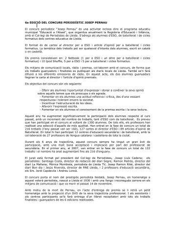 Més informació - Ajuntament de Lleida