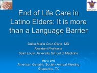 End of Life Care in Latino Elders: It is more than a Language Barrier