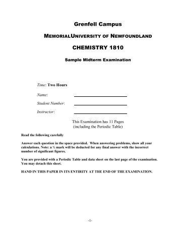 Sample Midterm Exam