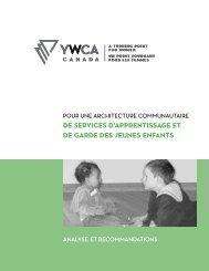 de services d'apprentissage et de garde des ... - YWCA Canada