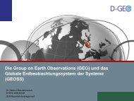 und das Globale Erdbeobachtungssystem der Systeme ... - D-GEO