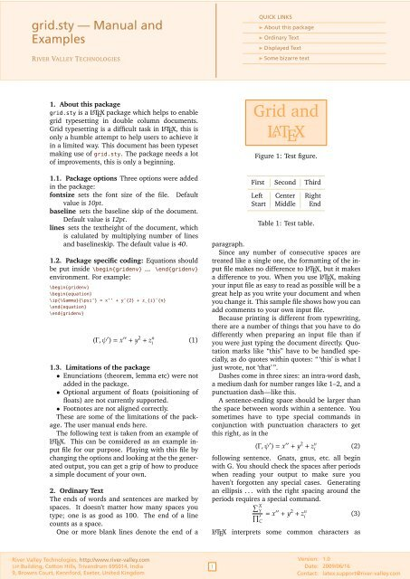 Grid and LATEX