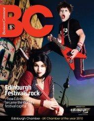 Edinburgh Festivals rock - The Edinburgh Chamber of Commerce