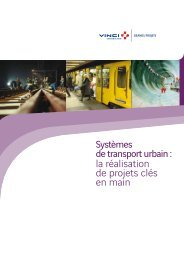 Systèmes de transport urbain - VINCI Construction Grands Projets