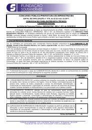 Convocação para Entrevista Técnica - Fundação Sousândrade