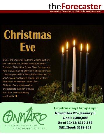 Christmas Eve services, Journey - Fairmount Christian Church