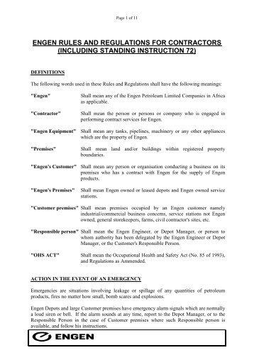 engen rules and regulations for contractors - mediacongo.net