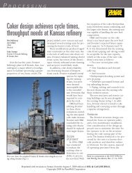 Coker design achieves cycle times, throughput needs at ... - CB&I