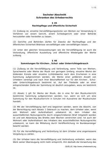 UrhG - Hartehasen.de