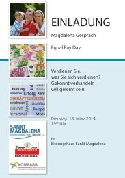 Einladung zum Equal Pay Day - Frauenreferat