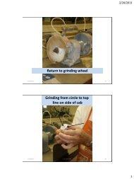 Step 3 - Rough Grinding Shape on Diamond Wheels