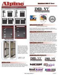 Insulated IMB-V7 Door - Alpine Overhead Doors