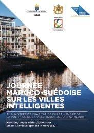 Journée Maroco-suédoise sur les villes intelligentes - Ministère de l ...