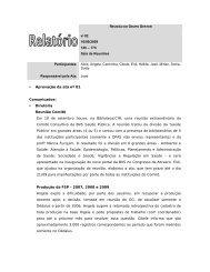 Reunião n. 82 de 16/09/2009 - Biblioteca/Centro de Informação e ...