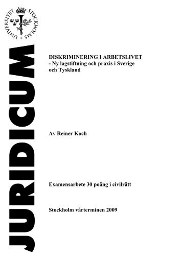 Ny lagstiftning och praxis i Sverige och Tyskland Av Reiner Koch ...