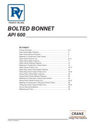 Pacific Bolted Bonnet API600