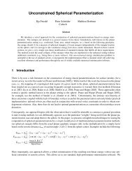 Unconstrained Spherical Parameterization - Applied Geometry ...