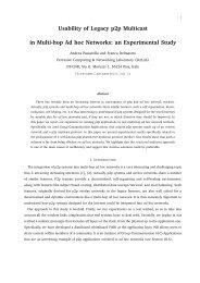 Usability of Legacy p2p Multicast in Multi-hop Ad hoc Networks: an ...