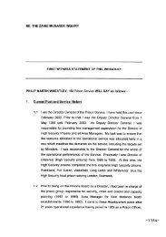 RE: THE ZAHID MUBAREK INQUIRY FIRST WITNESS STATEMENT ...
