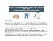 Supplemental Educational Services Provider Directory 2010-2011