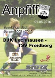 Auszug aus dem Anpfiff vom 01.05.2010 - DJK Lechhausen
