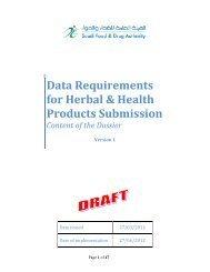 Data Requirements for Herbal and Health products submission