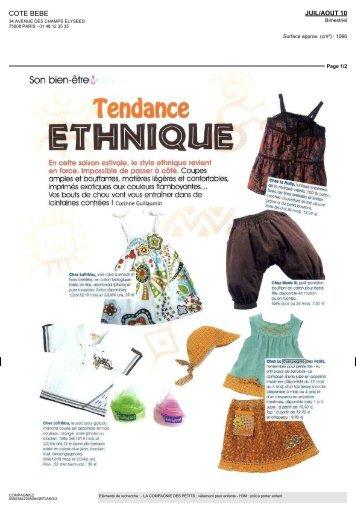 Tendance - La Compagnie des Petits