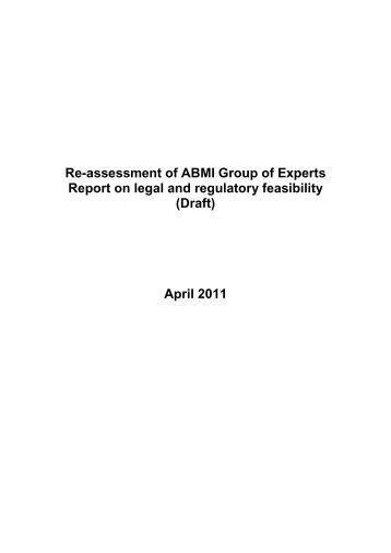 ABMI Group of Experts Report - Personal File Sharing