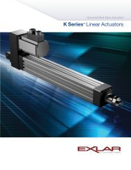 K Series™ Linear Actuators - TG Drives