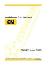 PENTAGRAM Cerberus [P 6367] Installation and Operation Manual