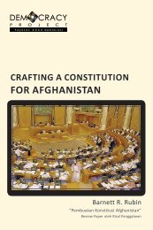 FOR AFGHANISTAN - Democracy Project