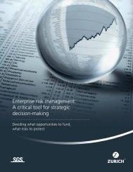 Enterprise risk management: A critical tool for strategic ... - Lynch2