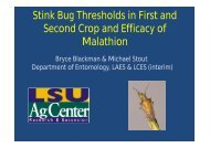 Stink Bug Thresholds in First and Second Crop and Efficacy of ...