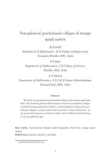 Non-spherical gravitational collapse of strange quark matter - iucaa