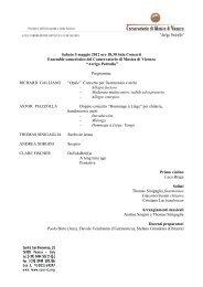 Sabato 5 maggio 2012 ore 18,30 Sala Concerti ... - Vicenza Jazz