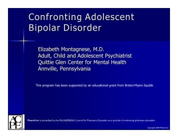 Bipolar Disorder - Free CE Continuing Education online pharmacy ...