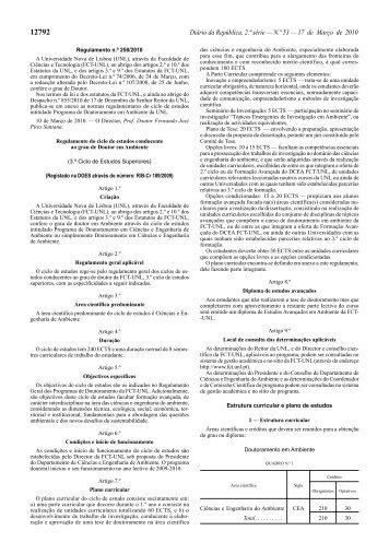 Doutoramento em Ambiente - Faculdade de Ciências e Tecnologia ...