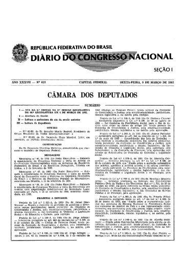 república federativa do brasil diario acional seção i - Câmara dos ...