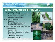 Water Resource Strategies