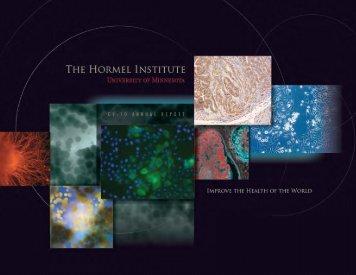 2010 Hormel Institute Annual Report - The Hormel Institute
