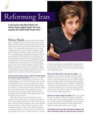 Reforming Iran - Stanford Lawyer