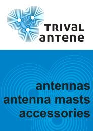 CATALOGUE of all antennas, masts and accessories - Trival Antene