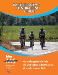 participantand fundraising guide - Bike MS - National Multiple ...