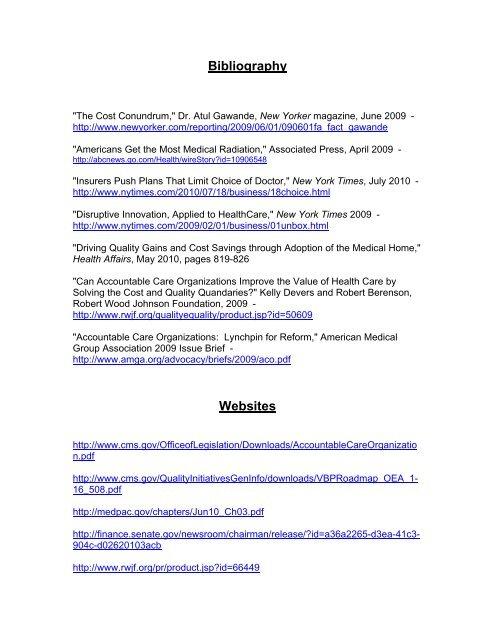 Bibliography Websites  Kelseyseybold Clinic