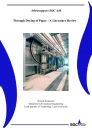 Through Drying of Paper - A Literature Review Arbetsrapport SGC A40
