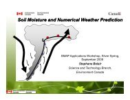 Soil Moisture and Numerical Weather Prediction - SMAP
