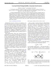 Local and Global Distinguishability in Quantum Interferometry