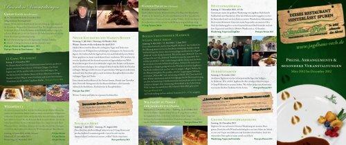 zu den WEIN-Veranstaltungen - Hotel und Restaurant Jagdhaus Rech